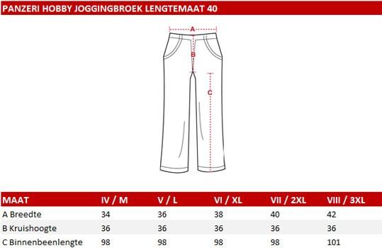 Panzeri Hobby joggingbroek lengtemaat 40