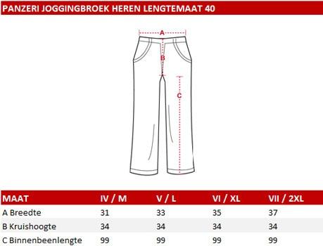 Panzeri Joggingbroek Heren Lengte 40