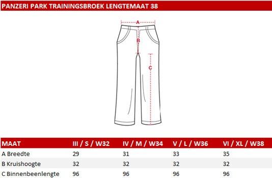 Panzeri Park-L trainingsbroek lengte 38