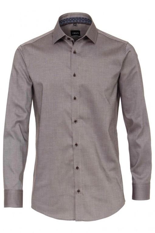 Venti Modern Fit Overhemd - Kent Bruin