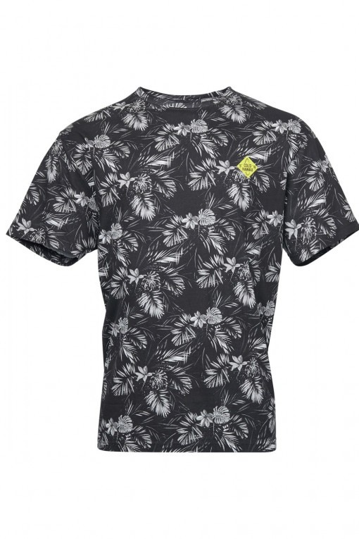 Replika Jeans T-Shirt - Floral Grey