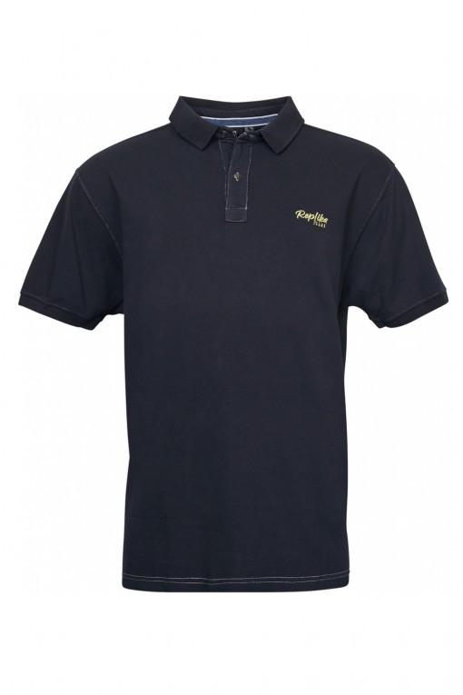 Replika Jeans Poloshirt - Black