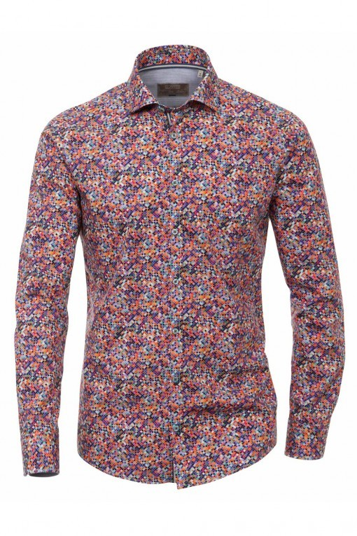 Venti slim fit overhemd multicolour