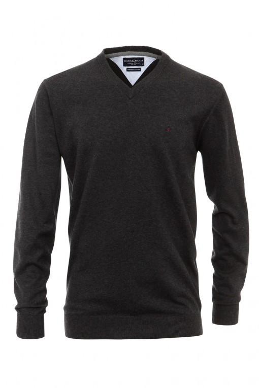 Casa Moda V-hals Pullover- Donkergrijs