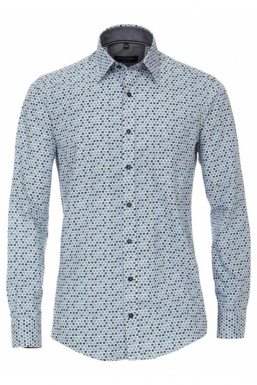 Casa Moda Casual Fit overhemd - Blauwe Bolletjes