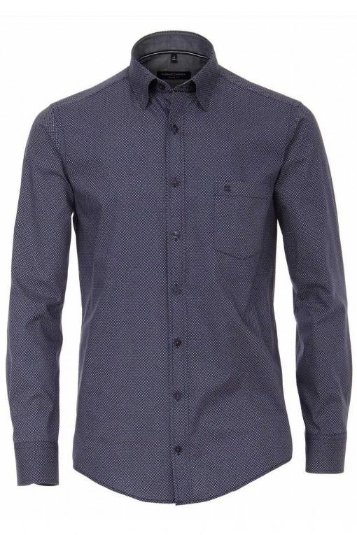 Casa Moda Casual Fit overhemd - donkerblauw gestippeld