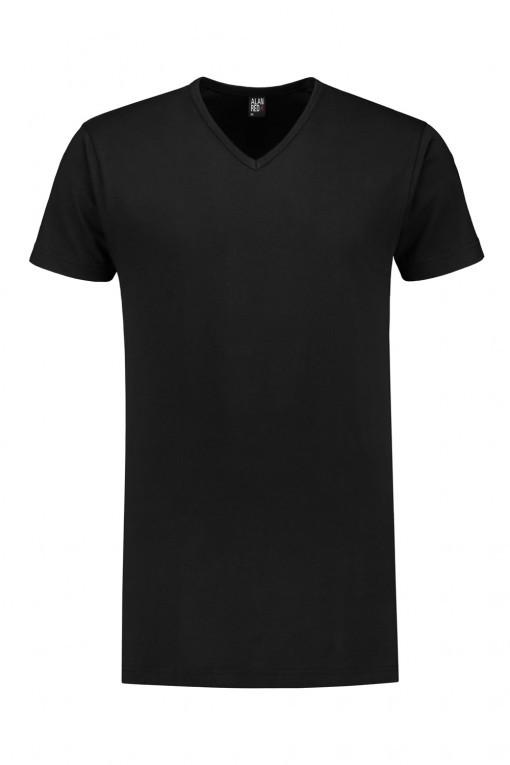 Alan Red T-Shirt - Vermont Zwart extra lang