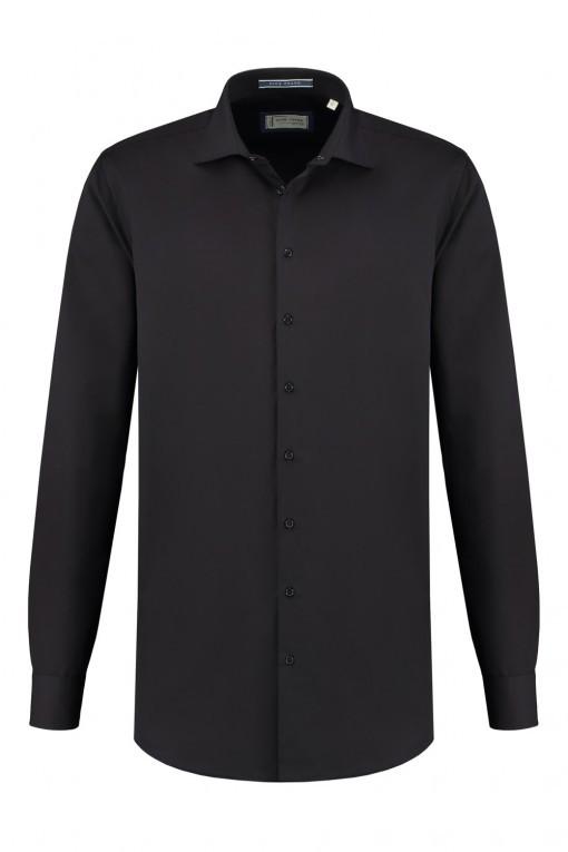 Blue Crane Tailored Fit Overhemd - Zwart