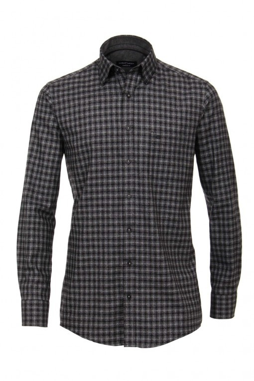 Casa Moda Comfort Fit overhemd - Antraciet