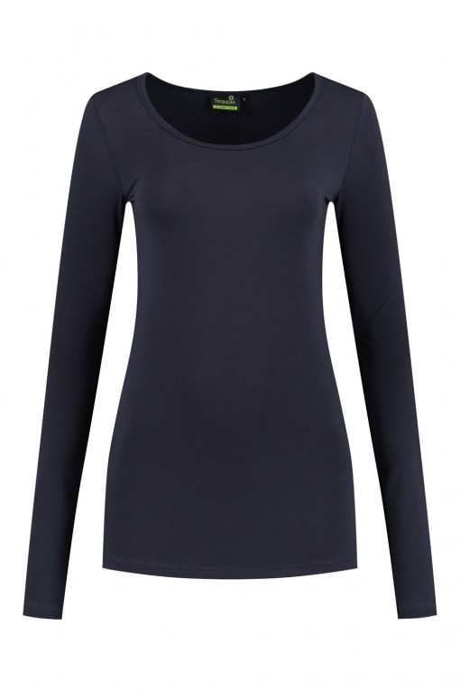 Sequoia - Basic top lange mouw navy