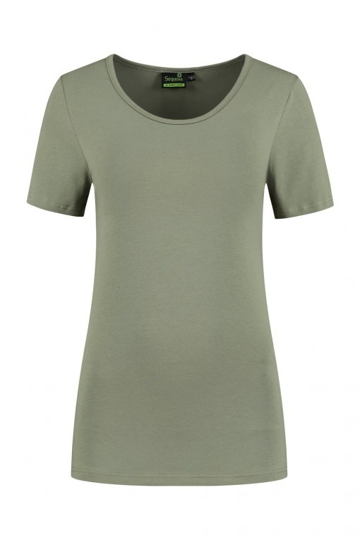 Sequoia - Basic top korte mouw khaki