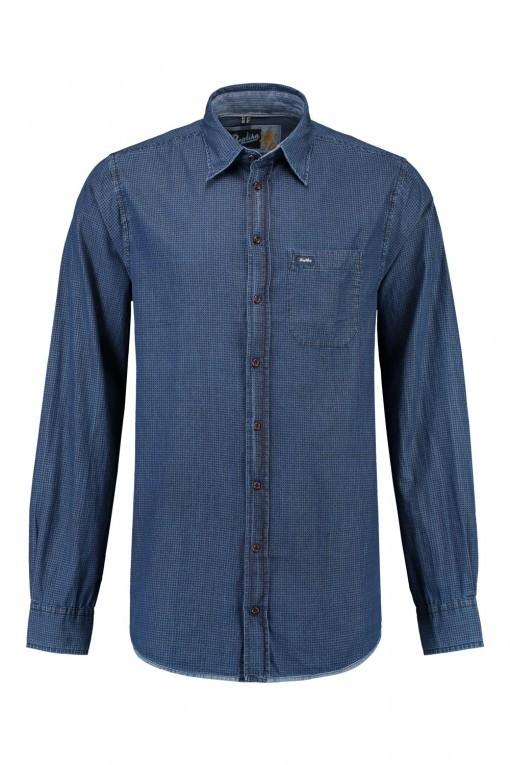 Replika Jeans Overhemd Printed Denim