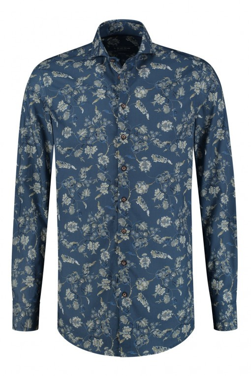 Ledûb Modern Fit Overhemd - Blauw Floral