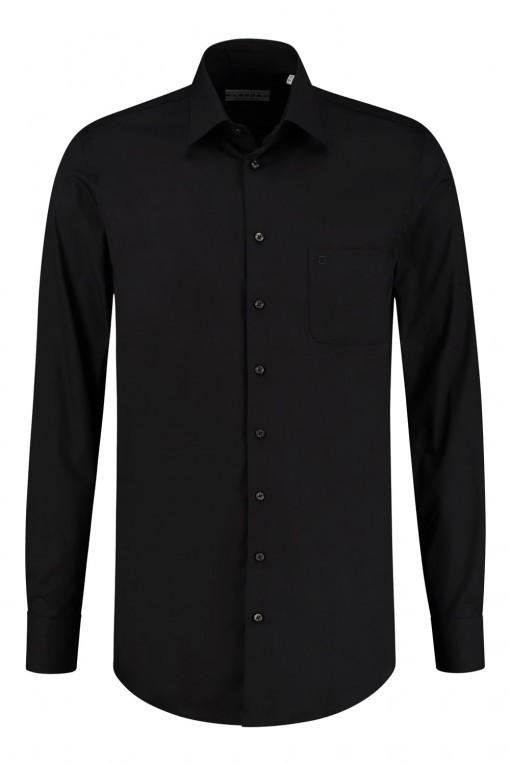 Ledûb Modern Fit Overhemd - Zwart