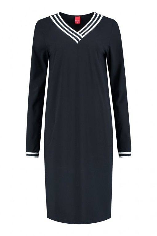 Only M Jurk - Sporty Chic Navy