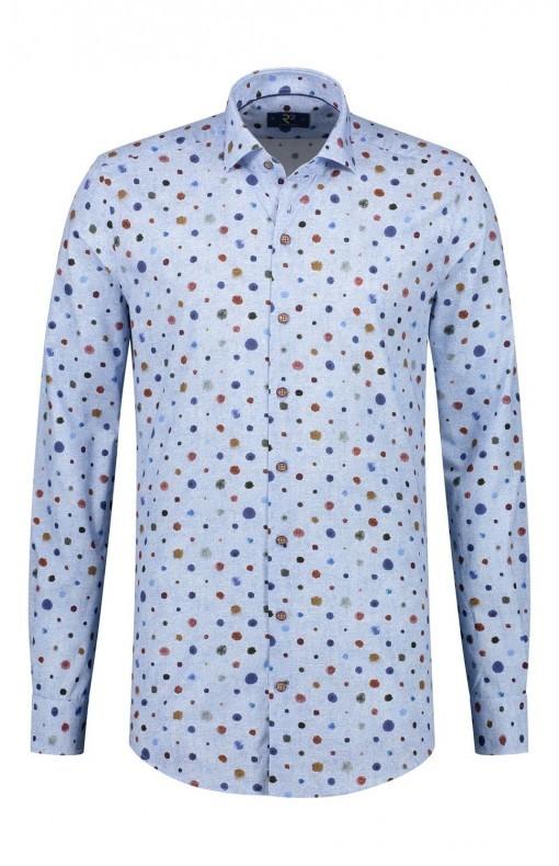 R2 Overhemd - Baluw Gespikkeld