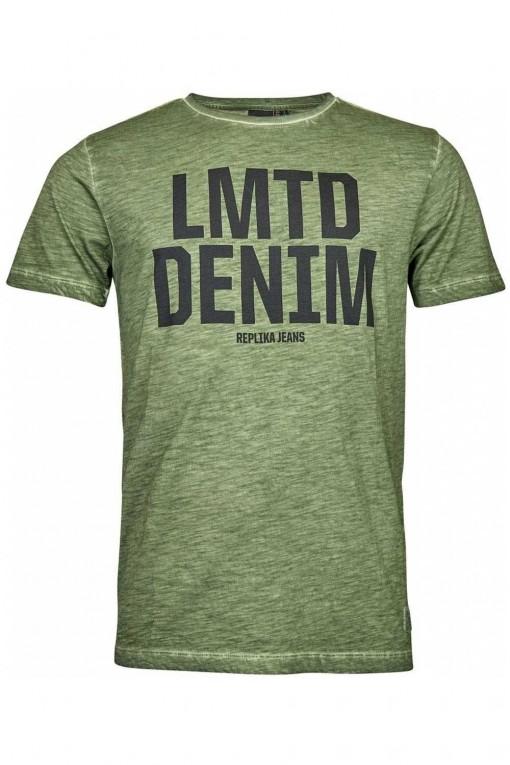 Replika Jeans T-shirt - Melange Groen