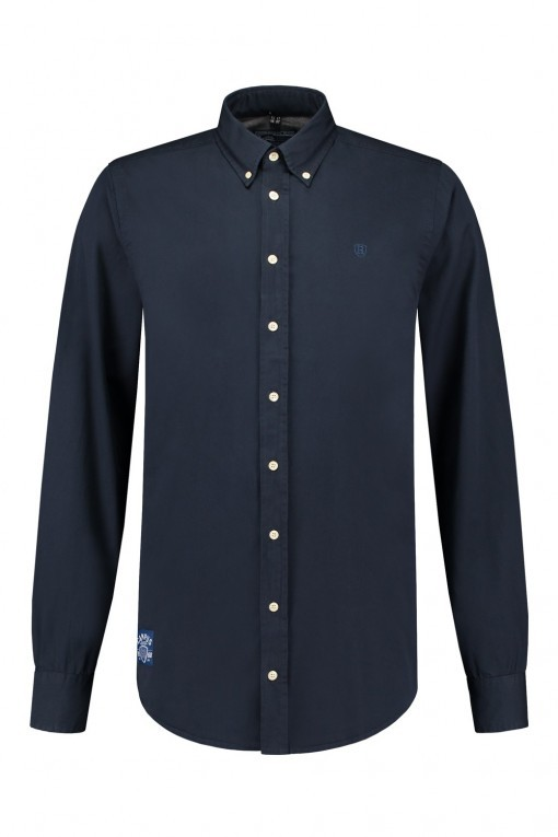 Replika Jeans Overhemd Navy Blue