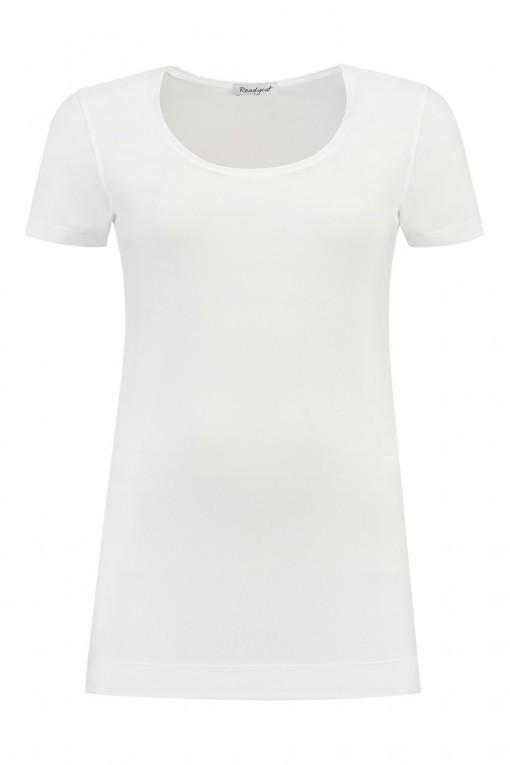 Basis T-shirt Korte Mouw - Wit