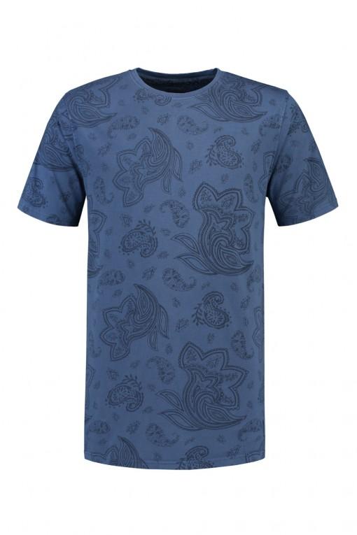 Kitaro T-shirt  - Blauw print
