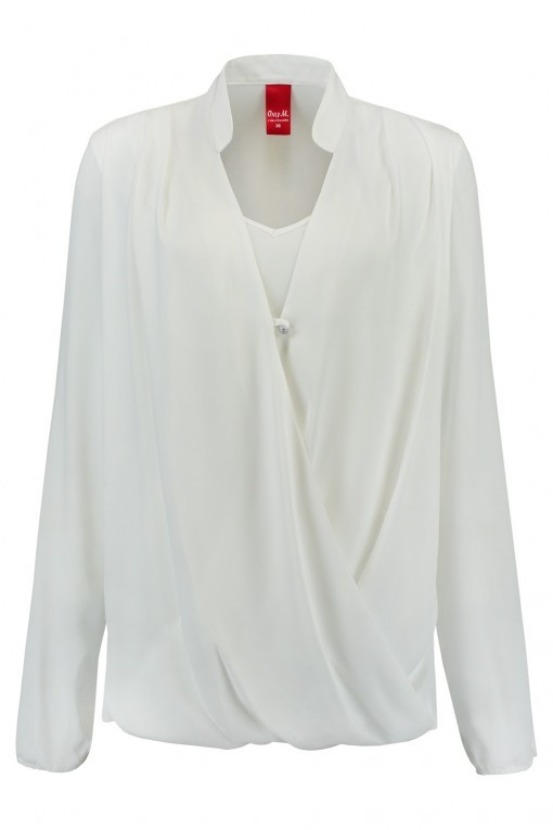 Only M - Blouse Overslag Off White