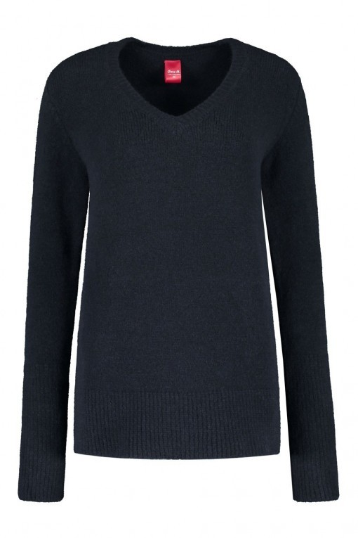 Only M Trui - V-Hals Donkerblauw