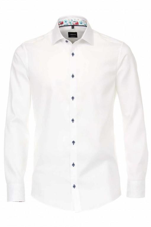 Venti Modern Fit Overhemd - Structuur Wit