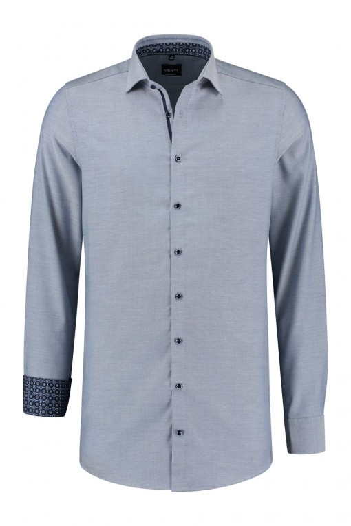 Venti Modern Fit Overhemd - Blauw/wit