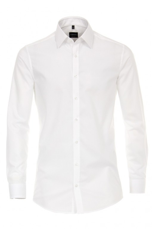 Venti Body Fit Overhemd - Wit