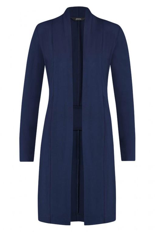 Chiarico - Vest Long Blauw