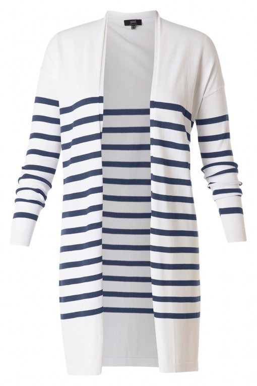 Yest vest - Ishani wit/blauw