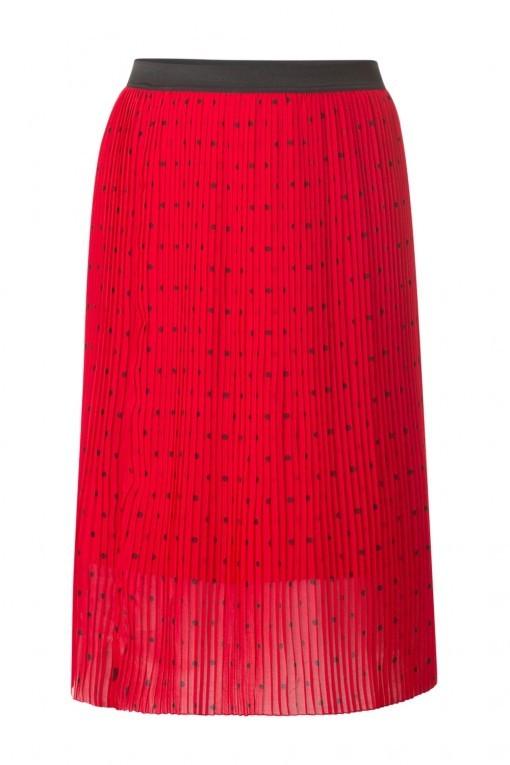 Yest Plissé Rok - Tango Red