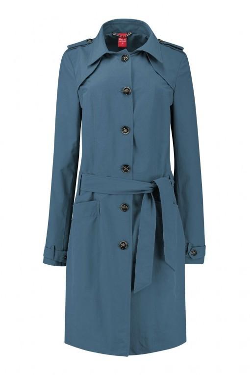 Only M Trenchcoat - Imprime Blauw