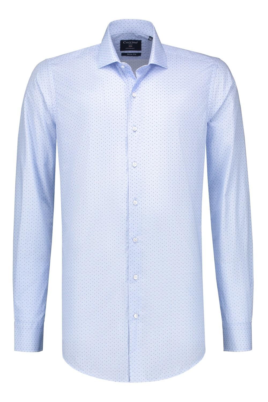 Overhemd Extra Lange Mouw.Corrino Overhemd Lichtblauw Patroon Extra Lange Mouw Highleytall
