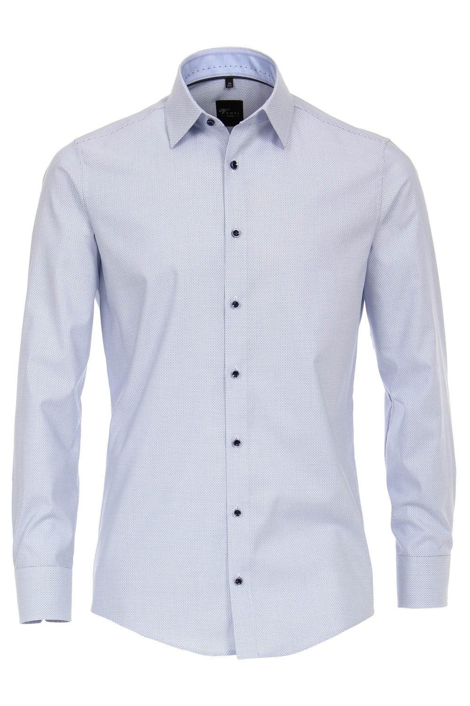 Overhemd Blauw.Venti Overhemd Wit Blauw Extra Lang Highleytall
