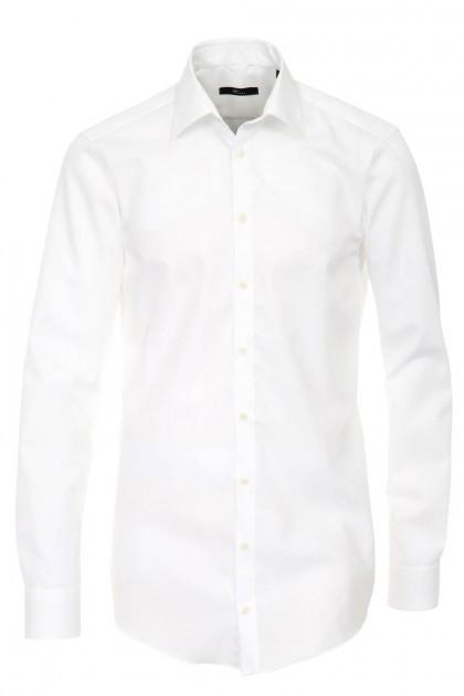 Venti slim fit overhemd wit mouwlengte 7