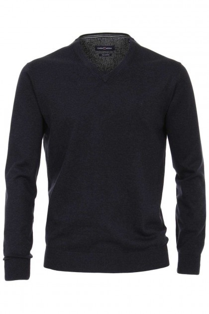 Casa Moda V-hals sweater - Donkerblauw