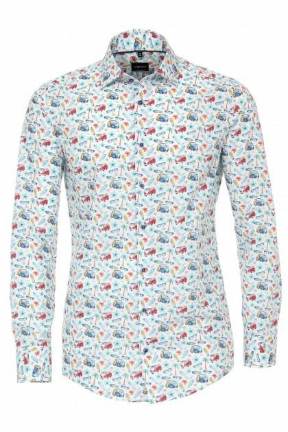 Venti Modern Fit Overhemd - Surf Print