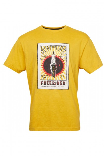 Replika Jeans T-Shirt - Freerider Yellow