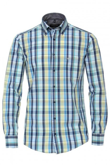 Casa Moda Casual Fit overhemd - Blauw Geruit