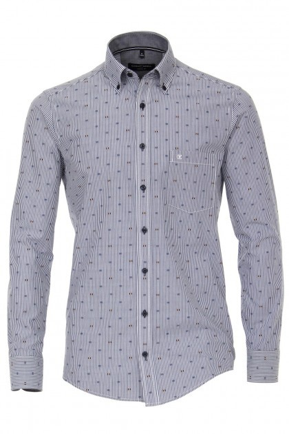 Casa Moda Casual Fit overhemd - Donkerblauw Gestreept