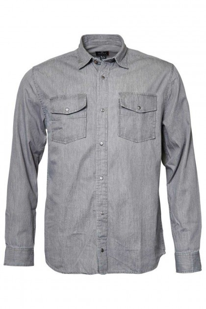 Replika Jeans Overhemd - Grey Denim