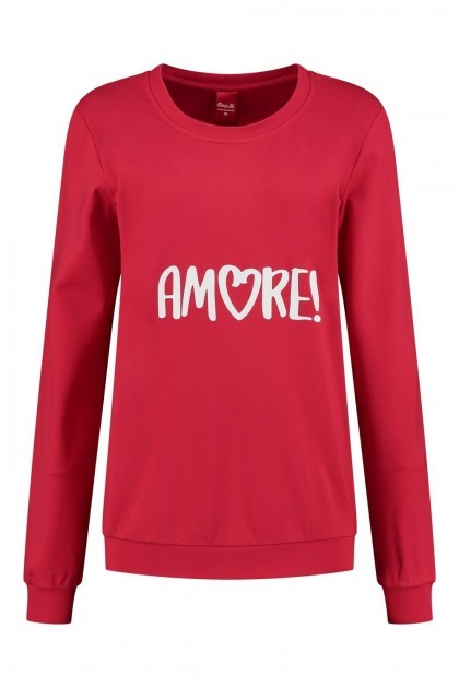 Only M - Sweater Amore rood