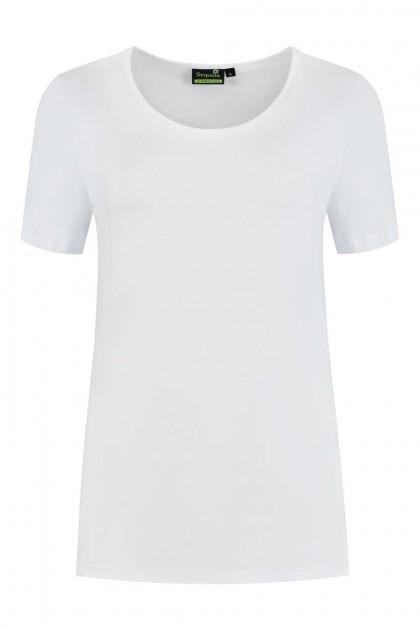 Sequoia - Basic top korte mouw wit