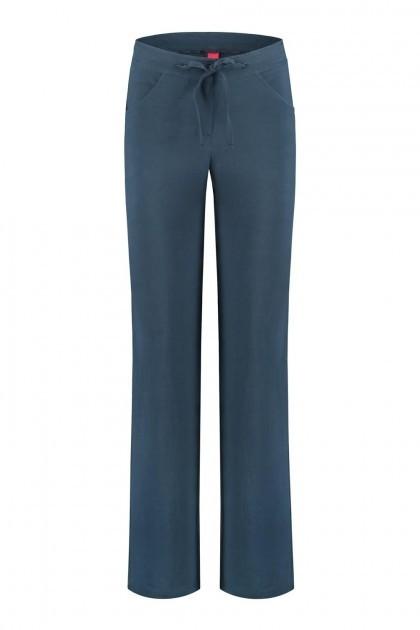 Only M - Pantalon Lino Navy