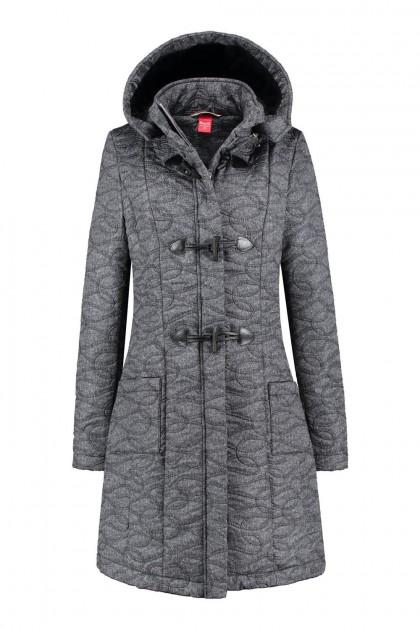 Only M - Winterjas grijs gemeleerd