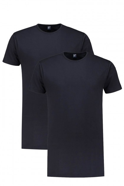 Alan Red T-Shirt - Derby Navy extra lang / 2-pack