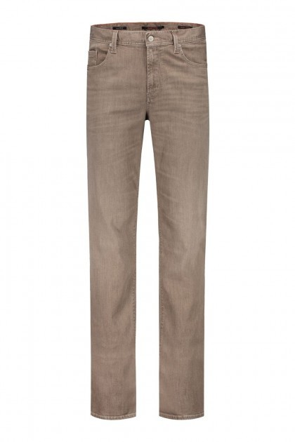 Alberto Jeans Pipe - Brown Melange