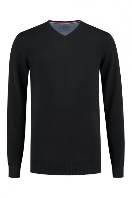 Kitaro Trui - V-hals zwart