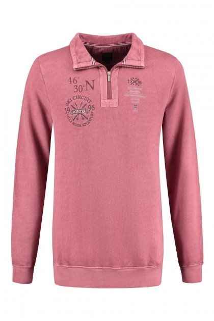 Kitaro Polo-shirt lange mouw - Ski Circuit rood